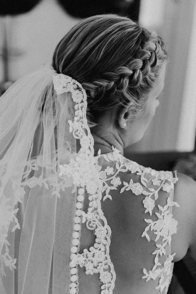 Monochromes Brautfoto